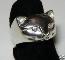 ANELLO TESTA di GATTO AG 925* CAT RING Sterling Silver