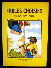 Vintage Imagerie Pellerin Fables Choisies de la Fontaine Books Inv1296/1297