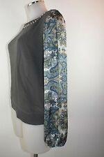 Liu Jo Pullover S XS 34 36 38 grau Sweat Shirt Baumwolle Pullover jumper neu