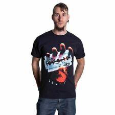 Oficial con licencia para hombre Judas Priest British Steel Band álbum Cuello Redondo Camiseta