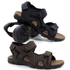Mens Faux Leather Summer Sandals Walking Hiking Trekking Sandals Beach Shoes Siz