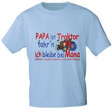 Kinder Baby T-Shirt Shirts 86 - 164 Papa ist Traktor fahr´n 08216 hellblau