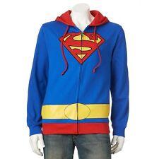 SUPERMAN MEN'S COSTUME HOODIE JACKET  VARIOUS SIZES NWT