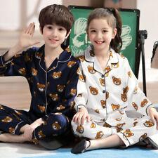 2PCS Toddler Baby Boy Girl Cute Cartoon Long Sleeve Tops Pants Pajama Set Outfit