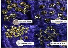 XMAS CATJINGLE BELLS small medium Large metal 10mm 18mm 20mm GOLD SILVER sew on
