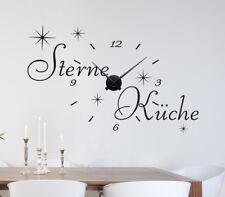 5 Sterne Küche Wanduhr Wandsticker Aufkleber Wandaufkleber Wohnzimmer WandTattoo