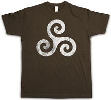 TRISKELION SYMBOL I T-SHIRT  Nordic Celtic Kelten Knoten Larp Vikings Thor Shirt