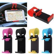Universal Car Steering Wheel Mount Holder For Samsung iPhone GPS HTC LG iPod MP4