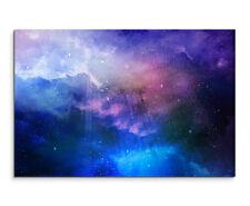 Wandbild Welltraum mit Sternenstaub und Galaxie auf Leinwand
