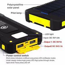 300000mAh Waterproof Portable Solar Charger Dual USB Battery Power Bank Phone