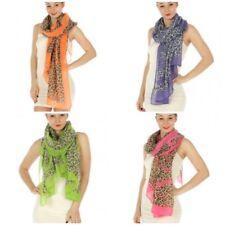 Animal Print Scarf/Beach Wrap, Pink, Blue, Green, Orange