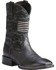 Ariat? Men's Black Sport Patriot Square Toe Boot 10023361