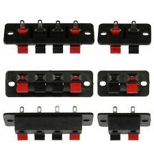 2 / 4 pin Plastic Speaker Spring Terminal Block Clips - 2p / 4p Wire