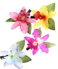 Orchideen Blüten Haarclip Pin Up 50s Haarblüte Haarspange