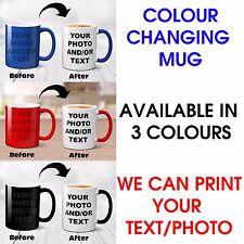 New Personalised Colour Changing Magic Mug Photo Text Customised Birthday Gift