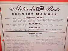 1942-1950 GM MOTOROLA RADIO CONTROL HEADS/SPEAKERS/ANTENNAS PARTS SERVICE MANUAL