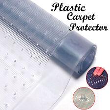 VINYL PLASTIC CARPET PROTECTOR HEAVY DUTY MAT ANTI-SLIP RUNNER OFFICE HALLWAY
