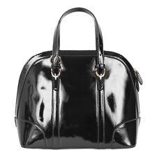 Pia Rossini Ladies Medium Gloss Shoulder Tote Handbag Pink, Blue Or Black