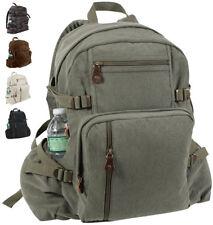 Vintage Canvas Large Knapsack, Large Bag Big Pack Backpack School Work Travel