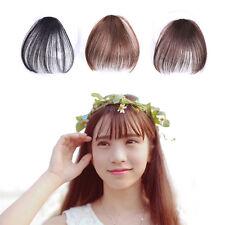 Popular Women Front Neat Air Bang Clip Fake Hair Extension False Straight Fringe
