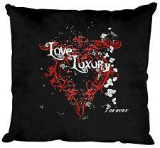(10835-1 negro) Cojín decorativo 40 x 40 cm almohadas con relleno AMOR LUXURY