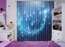 Las Estrellas De Faros Azul 3D Cortinas Bloquear Foto Impresión Cubrir Tela Vent