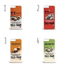 Isla De Man TT Carreras Moto Motociclista De Teléfono Estuche Cubierta iPhone Samsung