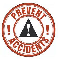 Prevent Accidents Hard Hat Decal Hardhat Sticker Helmet Label H161