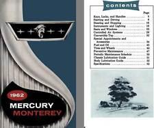 Mercury 1962 - 1962 Mercury Monterey Owner's Manual