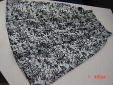NWT Womens Girls White Skirt w/ Black Floral Print Design George Ladies Fashion