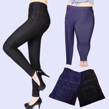Women Cotton Stretchy Pencil Pants Leggings High Waist Trouser Elastic Plus Size