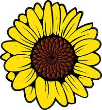 Sunflower Bright Flower Sun Vinyl Sticker Decal SIZES Car Laptop Wall Decoration