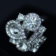 ELEMENTS CRYSTAL Multi Size Stone Ring White K15
