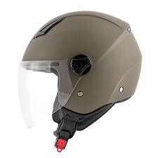 Casco jet moto scooter Kappa Kv28 verde militare XS S M L XL visiera lunga