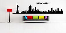 New York Skyline Wall Sticker / Interior Wall Decal / Big Skyline Transfer