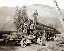 5x7 1912 WHITE TRUCK LOGGING CO TACOMA EASTON KATCHEL LK WASHINGTON WA PHOTO WOW