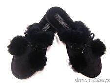 New NIB Coach Poppy Jayda Signature Fur Slippers Gift Black 5 6 7 8 9 10 11