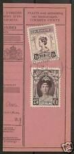 Surinam 1929 Nvph 102+124 Part of Moneyorder Vf