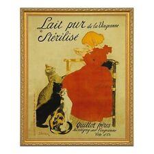 Lait pur Sterilise by T.Steinlen. Vintage Print Poster Reproduction. Framed 3