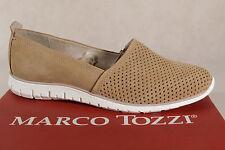 Marco Tozzi Zapatillas mujer bailarina piel marrón 24709 NUEVO