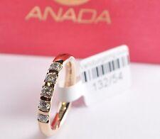 Marken Antragsring - Verlobungsring - Gold 585 mit 5 Brillanten - Breite: 3,0mm