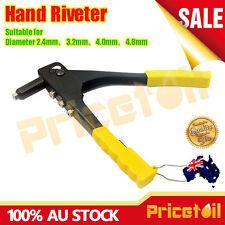 "Heavy Duty 4 Nozzles Hand Riveter Pop Riveting Plier Rivet Gun Metal 240mm (10"")"