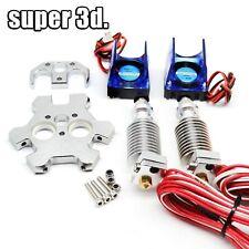 V6 Hotend Dual Head Extruder 0.2/0.4/0.6mm Nozzle 12V/24V 1.75mm Filament fan