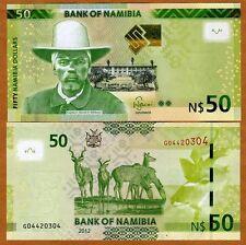 Namibia, 50 dollars, 2012, P-New, UNC > Antelopes