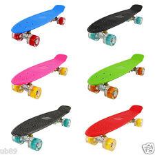 Mini-Board FunTomia® (LED) Skateboard Cruiser Kinderboard board ABEC-11 Tasche