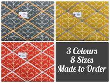 Custom Made Fabric Pin/Memo/Notice Cork Board Orla Kiely Linear Stem Fabrics
