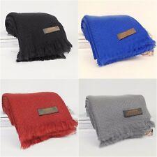 Women Winter Warm Cashmere Soft Plain 100% Pashmina Handmade Shawl Wrap Scarf