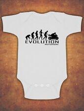 Evolution Of Motorbike Motorcycle Rider  Baby Kids Present Grow Body Suit Vest