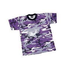 KIDS Purple Camo T-Shirt Ravens Vikings Lakers Wildcats LSU Boys Girls Children