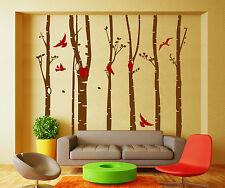 HUGE Stylish Tree Birds Birdcage Wall Decor Art Vinyl Wall Sticker UK  SH60